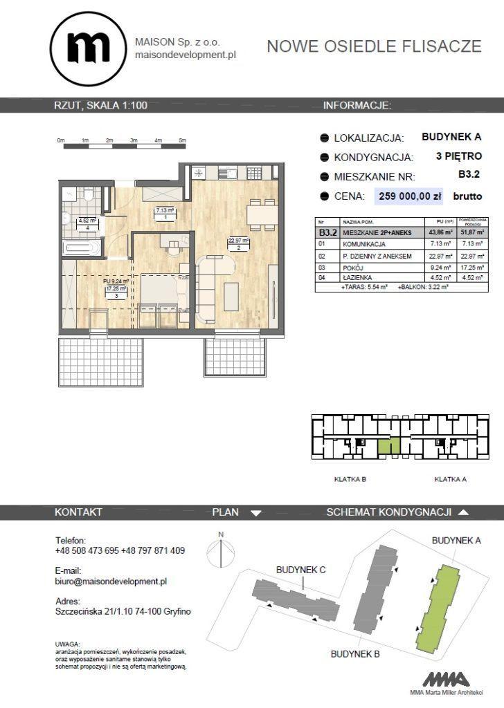 Nowe Osiedle Flisacze - mieszkanie 2 pokojowe