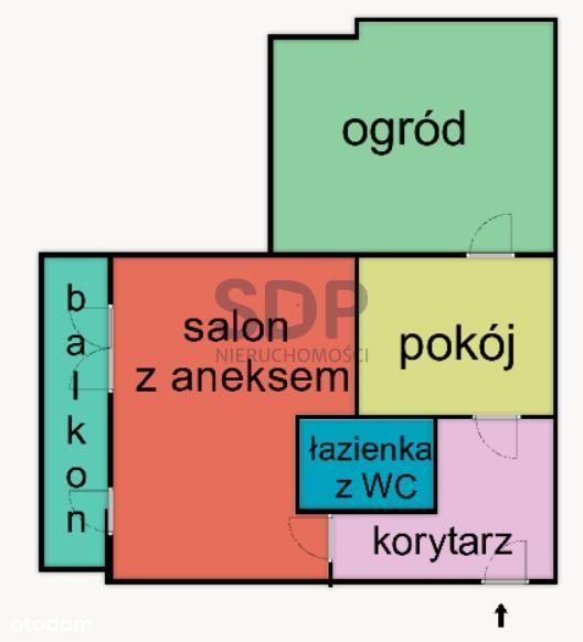 2 pokoje z ogródkiem i balkonem! Garaż W Cenie!!!