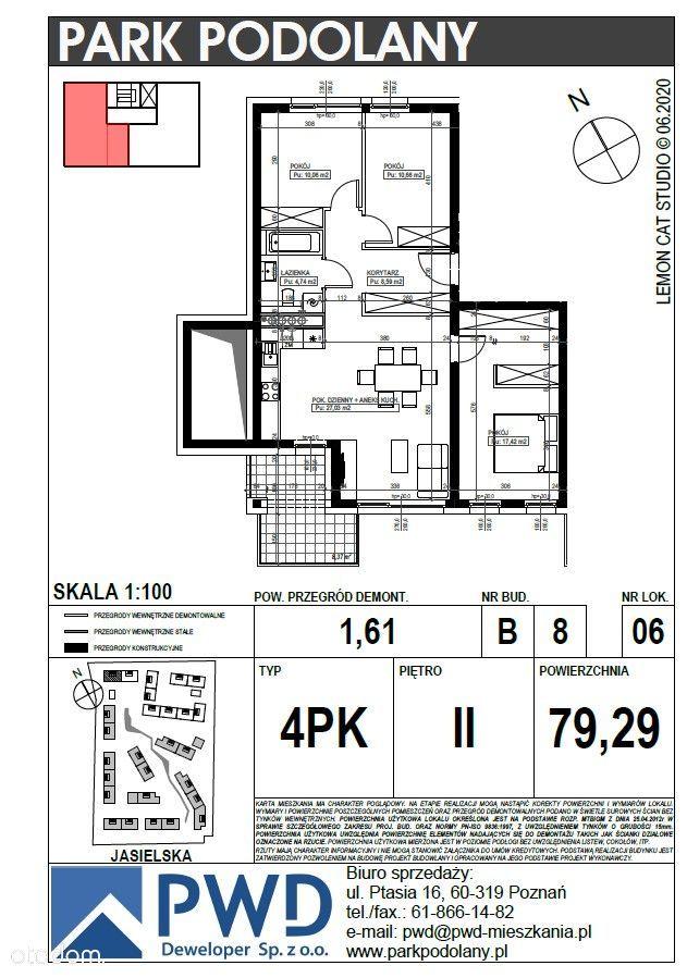 Park Podolany etap B mieszkanie 4- pokojowe