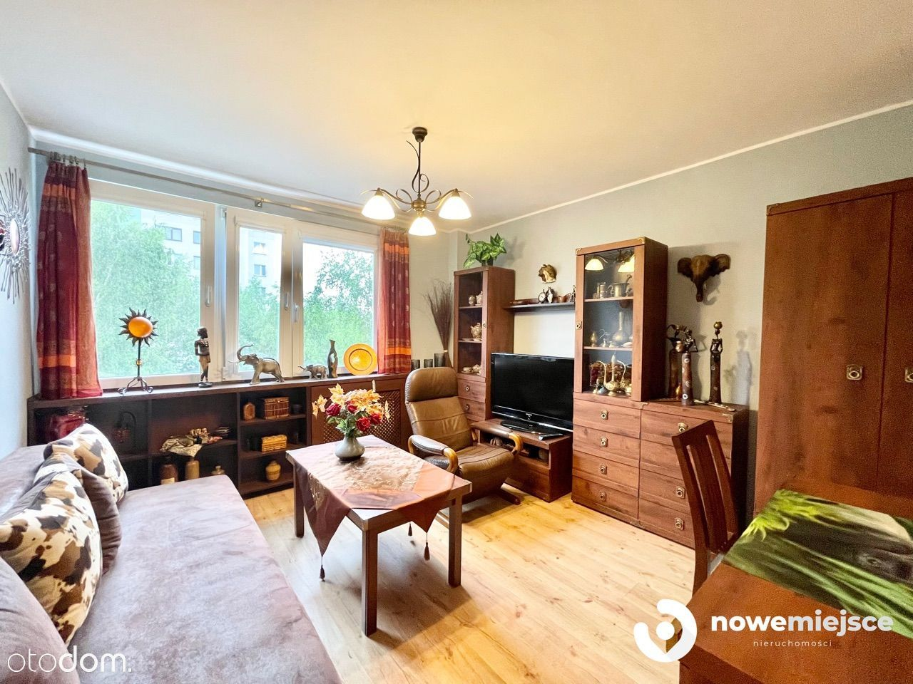 Ładne 3 pokojowe mieszkanie z loggią, umeblowane