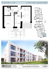 40,2m2-2pokojowe mieszkanie z ogródkiem