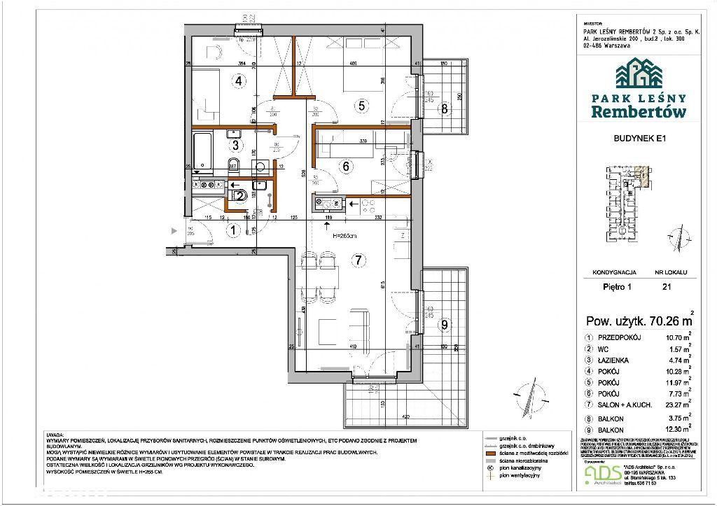 Mieszkanie 4 pokojowe na nowoczesnym osiedlu/Rembe