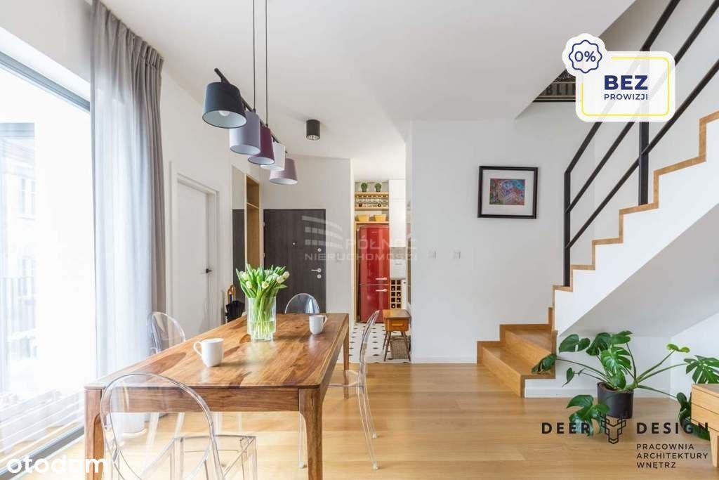 2pok, dwupoziomowe, 64m2, balkon, przy lesie