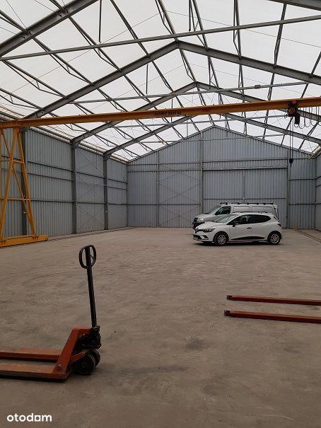 Luboń hala namiotowa z suwnicą 500m2 ( + biuro )
