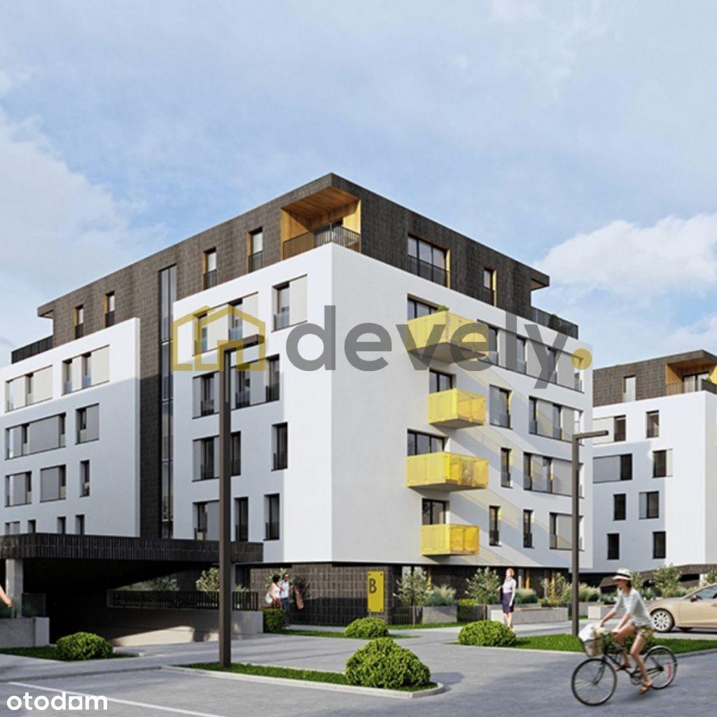 2 pokoje + balkon 10m2 - Top lokalizacja - Bagry!