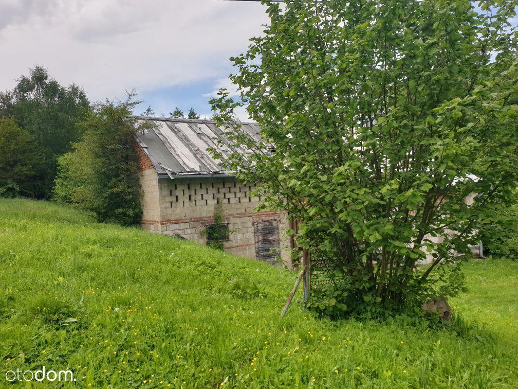 działka ze starym domem w Ustrobnej