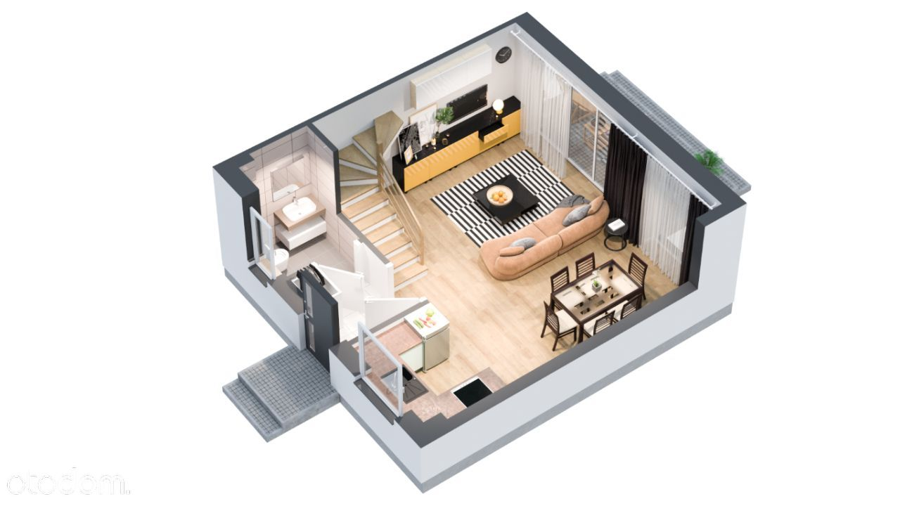 INVEST COMPLEX mieszkanie 70.07m2 z ogrodem