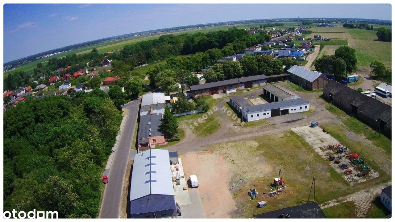 Kompleks budynków gospodarczych + biura i grunty.