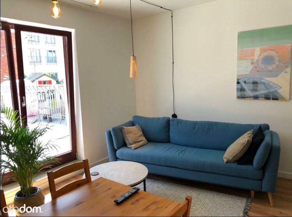 Dwupokojowe mieszkanie z tarasem   47 m²