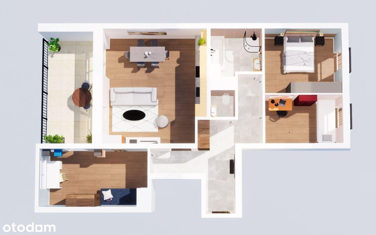 Wygody apartament i 15 metrowy taras widokowy