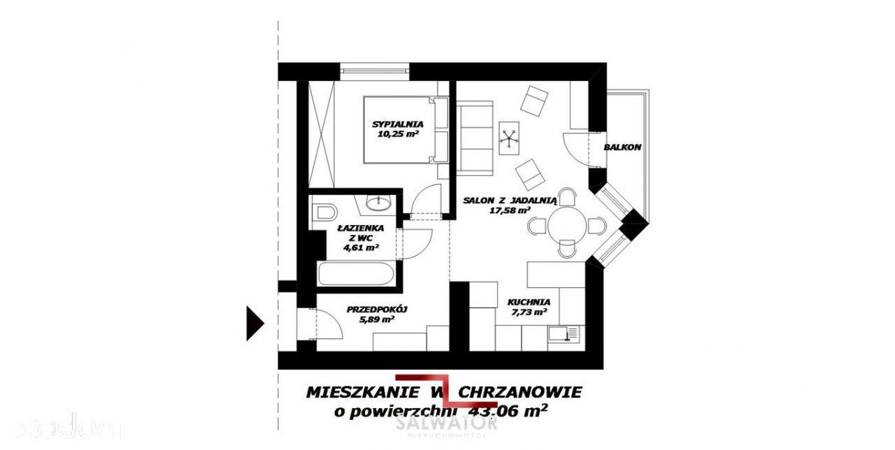 Mieszkanie 43m2 Wysoki Standard Miejsce Parkingowe