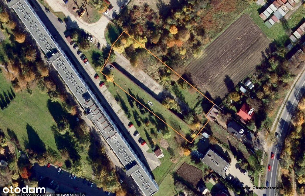 Nieruchomość budowlana, z zabudową, ul. Osieckiego