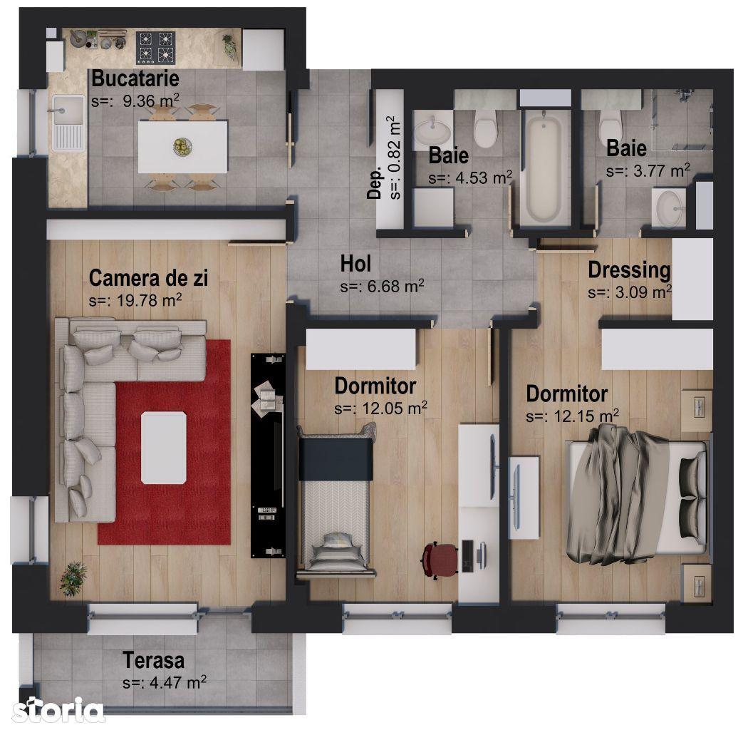 Apartament 3 camere Rainbow by Casa Nobel