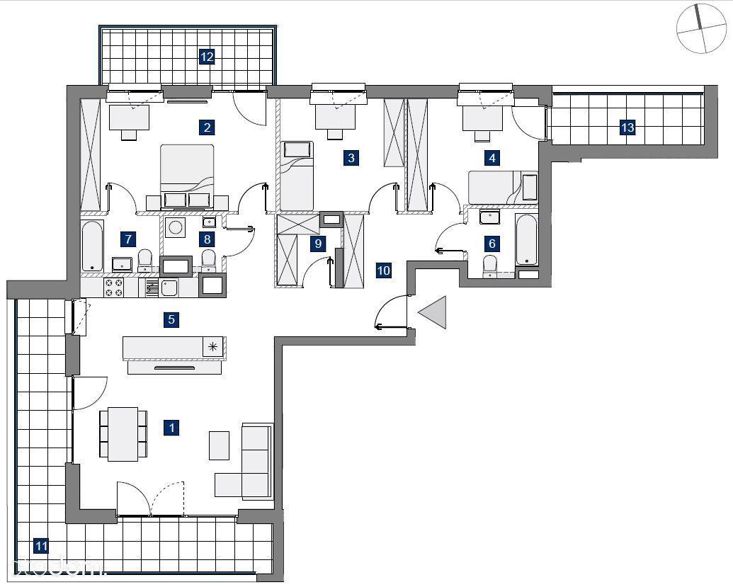 BEZPOŚREDNIO - prestiżowa inwestycja - 3 balkony!
