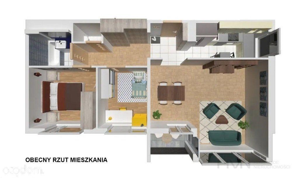 Trzypokojowe mieszkanie Grzegórzki-Olsza