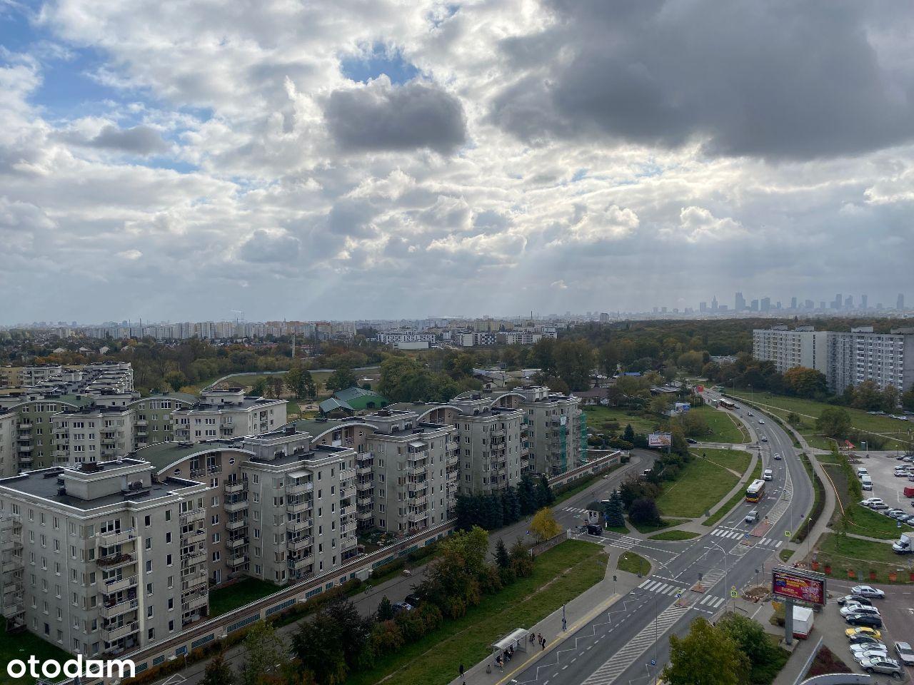 2-pokojowe, ul. Kondratowicza z panoramą Warszawy