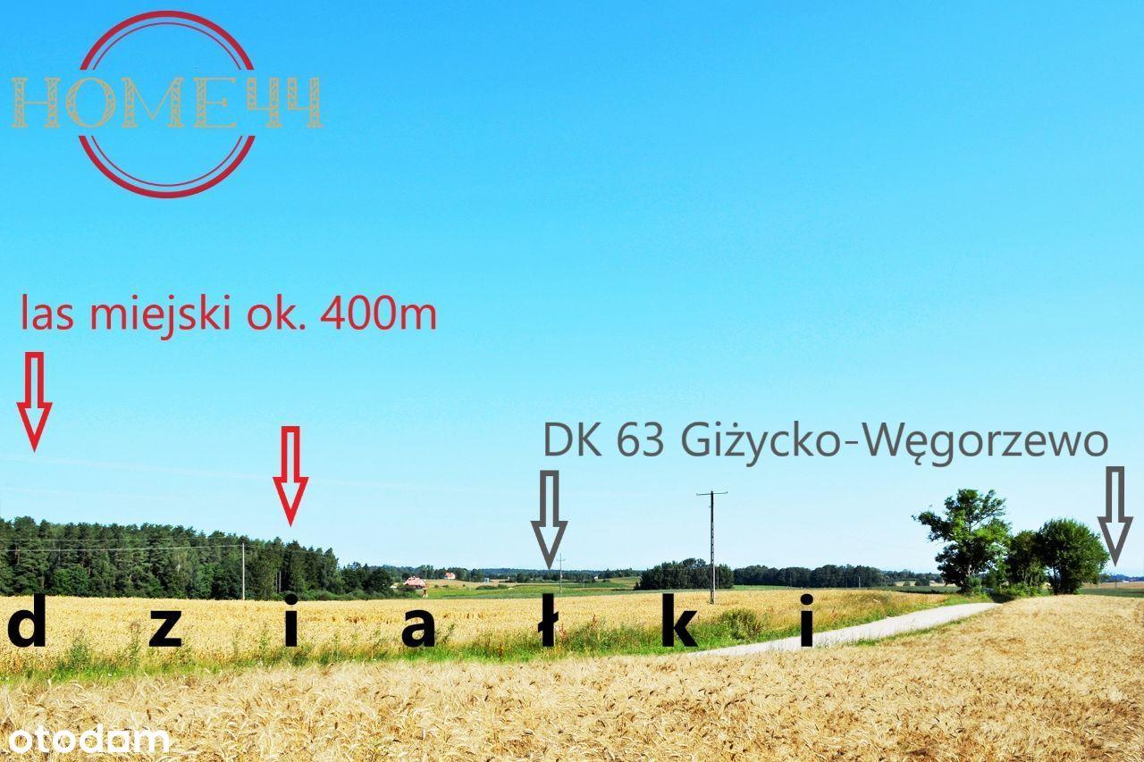 Mazury k/Giżycka, urocza działka szlak WJM 5km