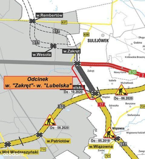 2100m2 Usługi Warszawa Węzeł Zakręt