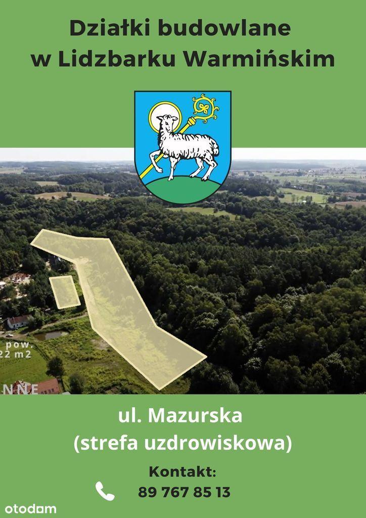 Działka, 1 034 m², Lidzbark Warmiński