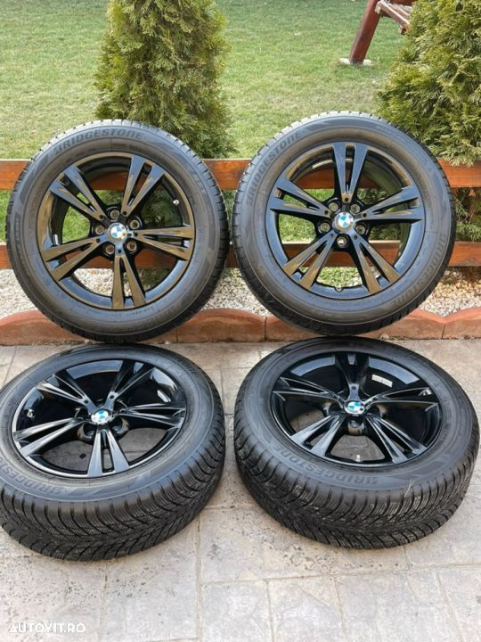"Jante BMW X1 , X2 , originale , 17"", anvelope Bridgestone 8 mm - 2"