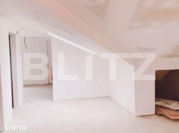Apartament 2 camere, semifinisat, 60mp, Edgar Quinet