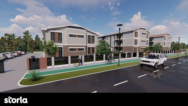 Teren comuna Giroc cu AC si Proiect pentru 8 apartamente