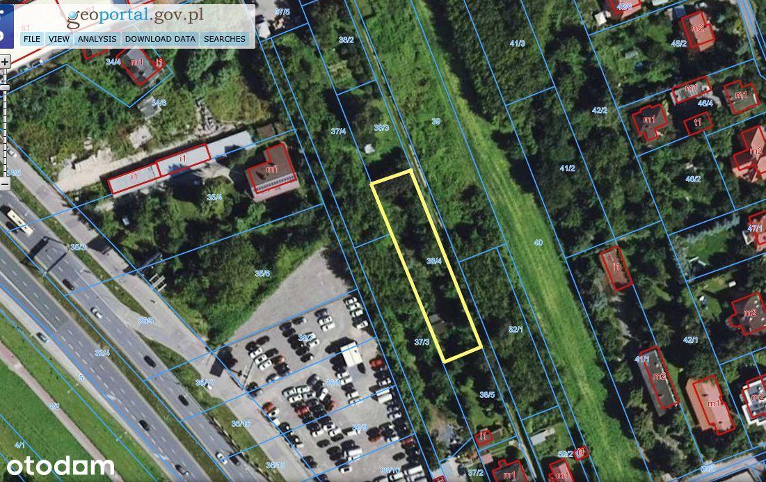 Działka budowlana, 1171m2, media, Wawer Las