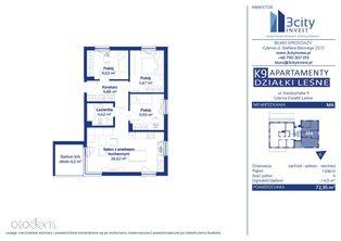 K9 Apartamenty M4 72,35 m2 - Gdynia Działki Leśne