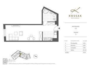 Kossak Residence Apartament Nad Wisłą 36m