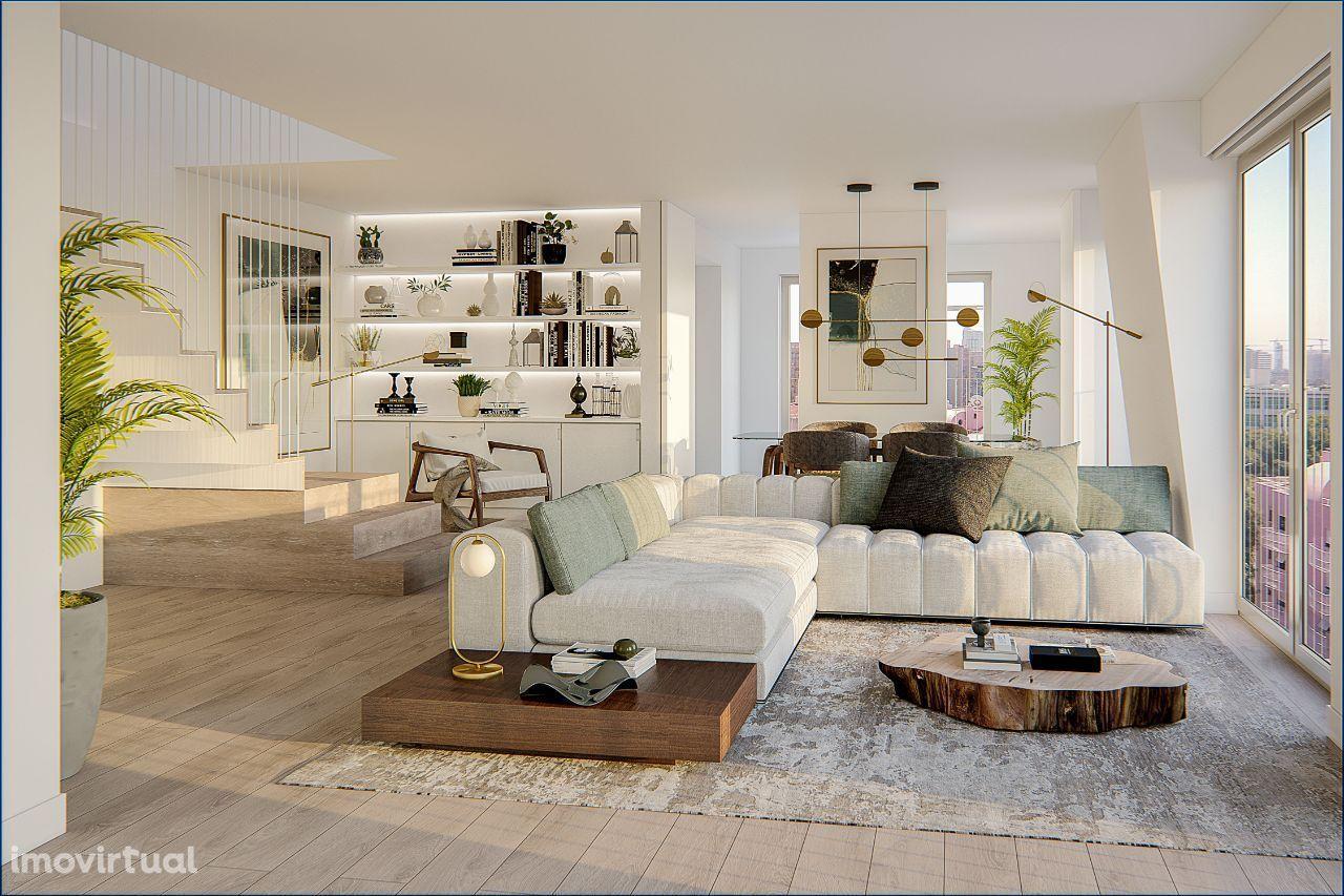 Apartamento T3 Duplex com 2 Lugares em Garagens e Varanda