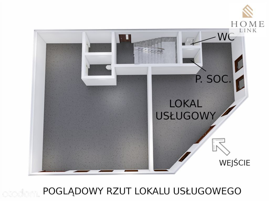 Lokal użytkowy, 64,04 m², Bartoszyce