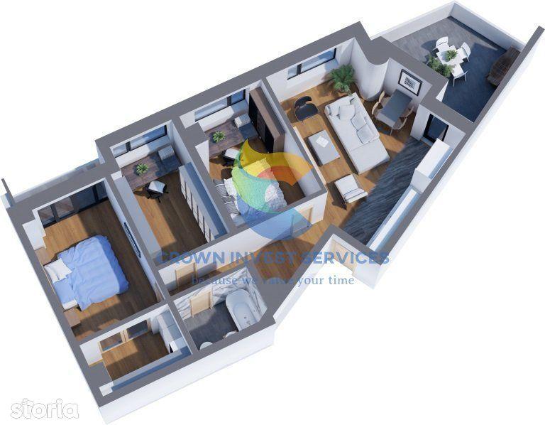 Apartament 3 camere, 82mp utili, Tatarasi, Ciric,vedere superba