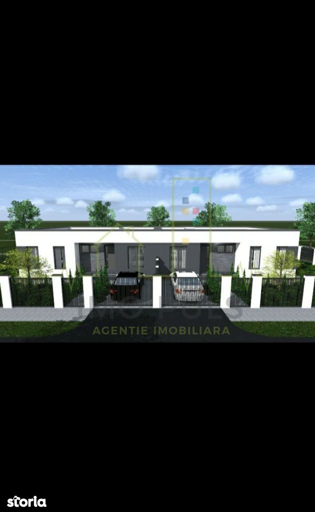 Proiect 1/2 Duplex PARTER, 4 camere, 2 bai