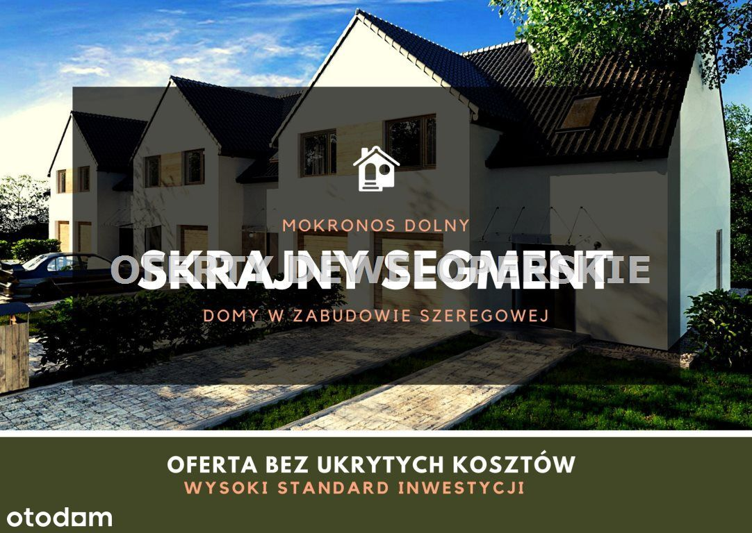Dom w Mokronosie/ wysoki standard- ogród