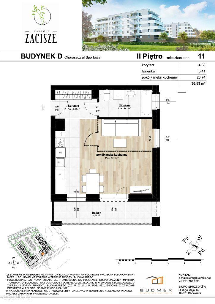 Osiedle Zacisze mieszkanie 2 pokojowe duży balkon