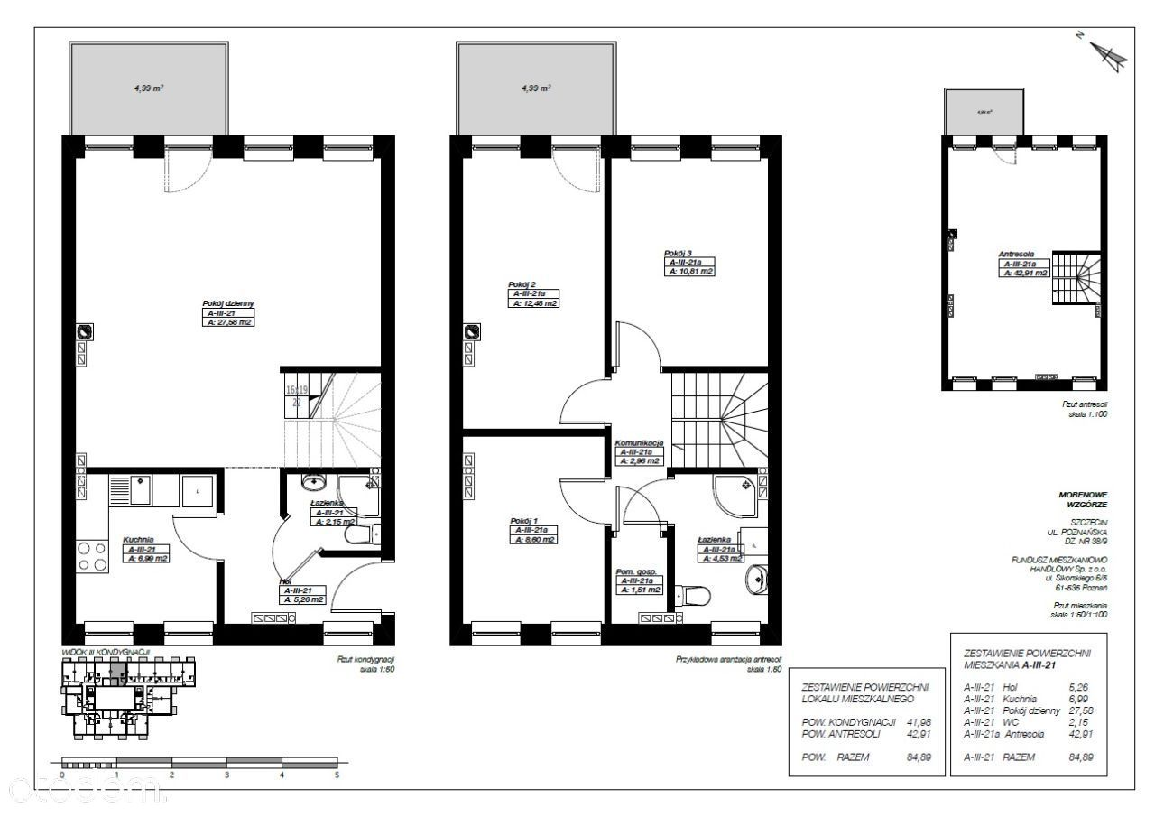 Cztery pokoje- Morenowe Wzgórze A-III-21