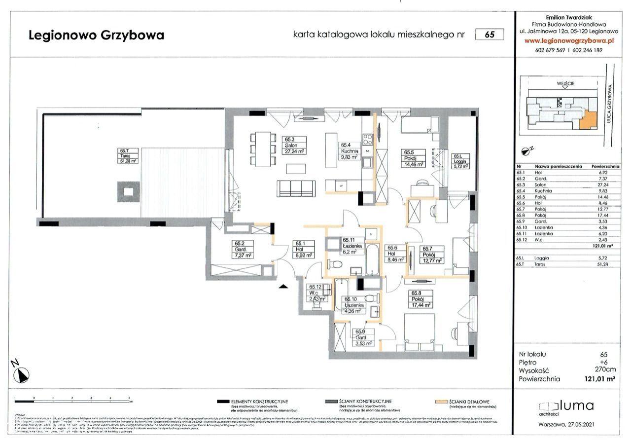 Nowe mieszkania w Legionowie z trasem na 6 piętrze