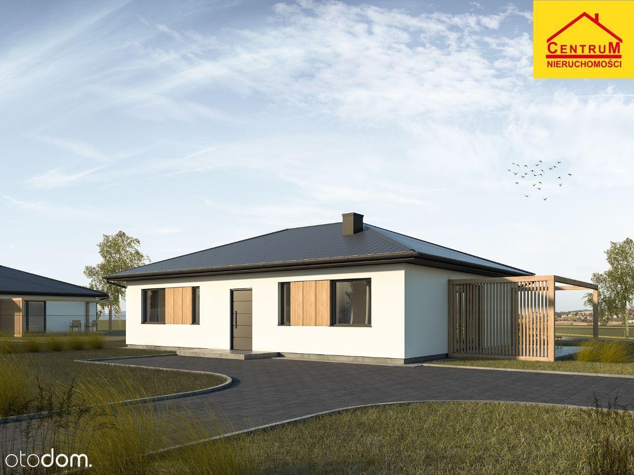 Nowe domy parterowe w spokojnej okolicy
