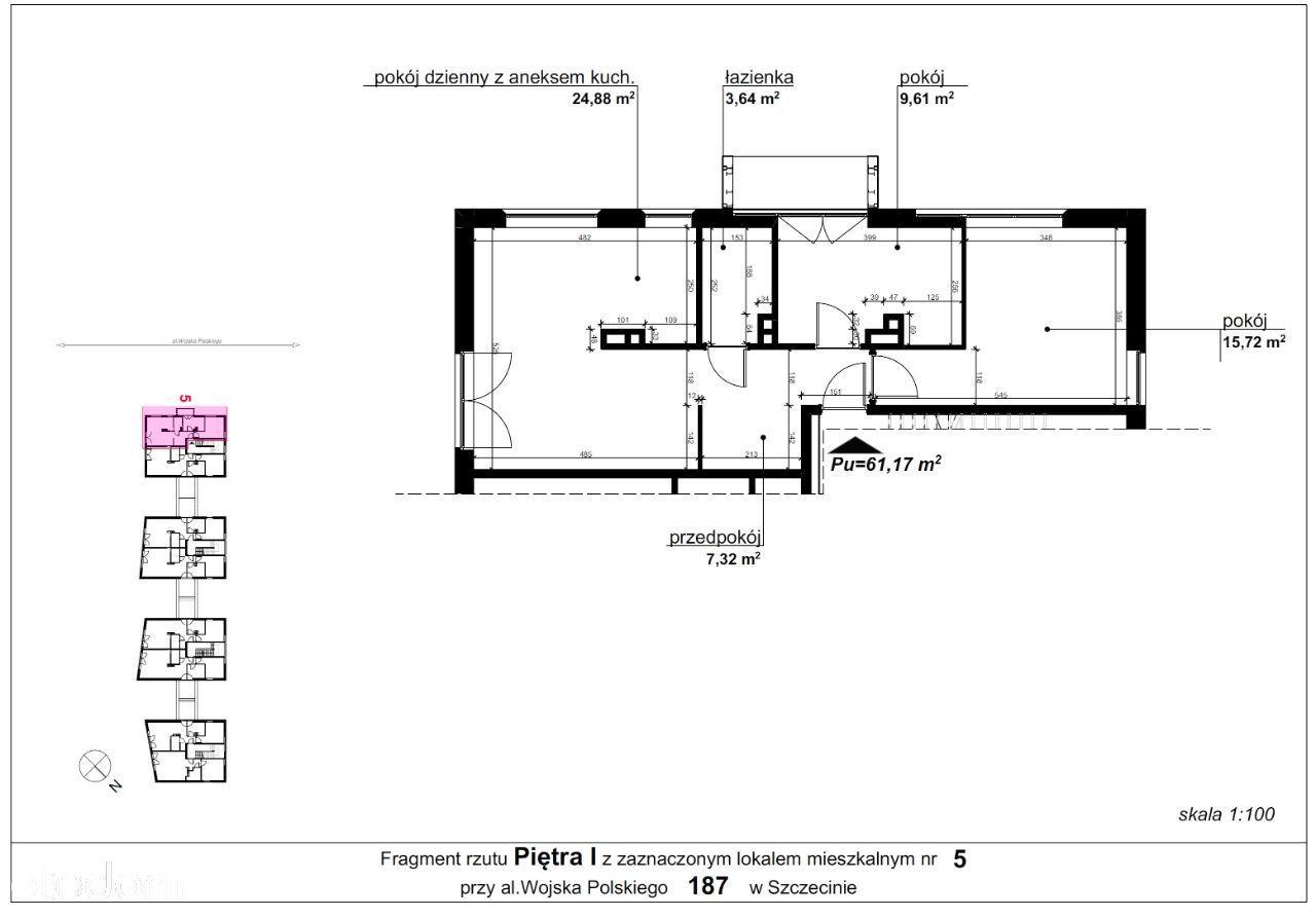 Mieszkanie 187/5 pow. 61,17 m2