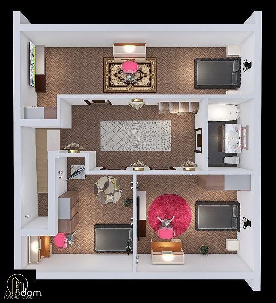 Słoneczne, dwupoziomowe mieszkanie, STRUGA