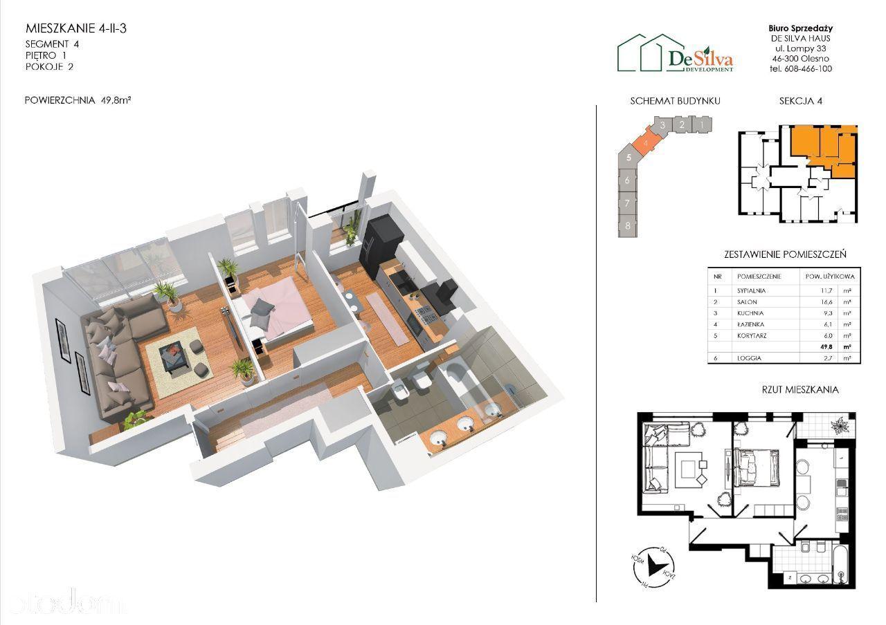 Mieszkanie 2 pokoje nowy blok garaż podziemny 423