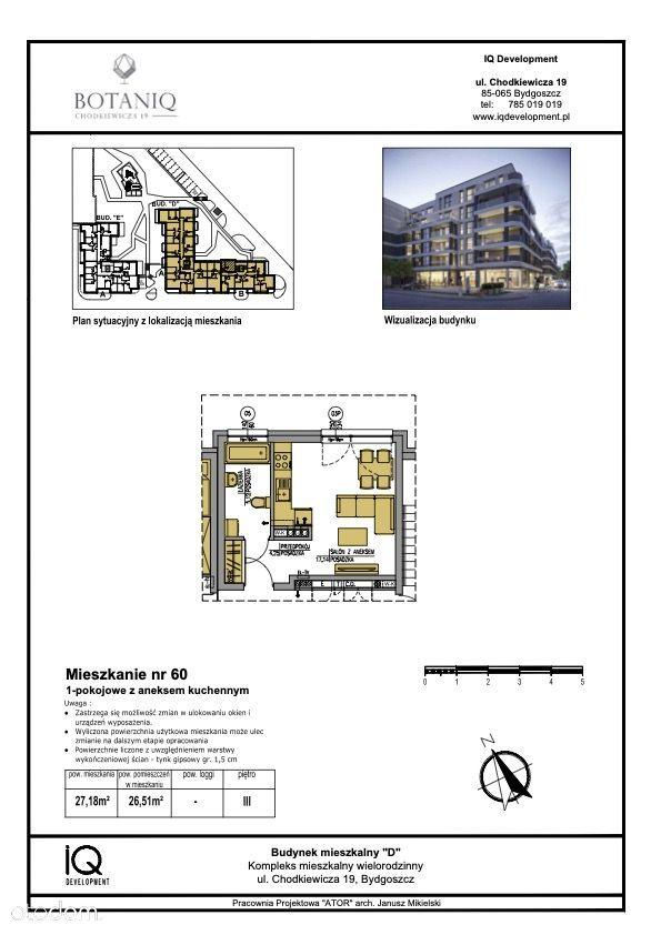 Nowe mieszkanie Kawalerka CHODKIEWICZA 19 w Bydg.