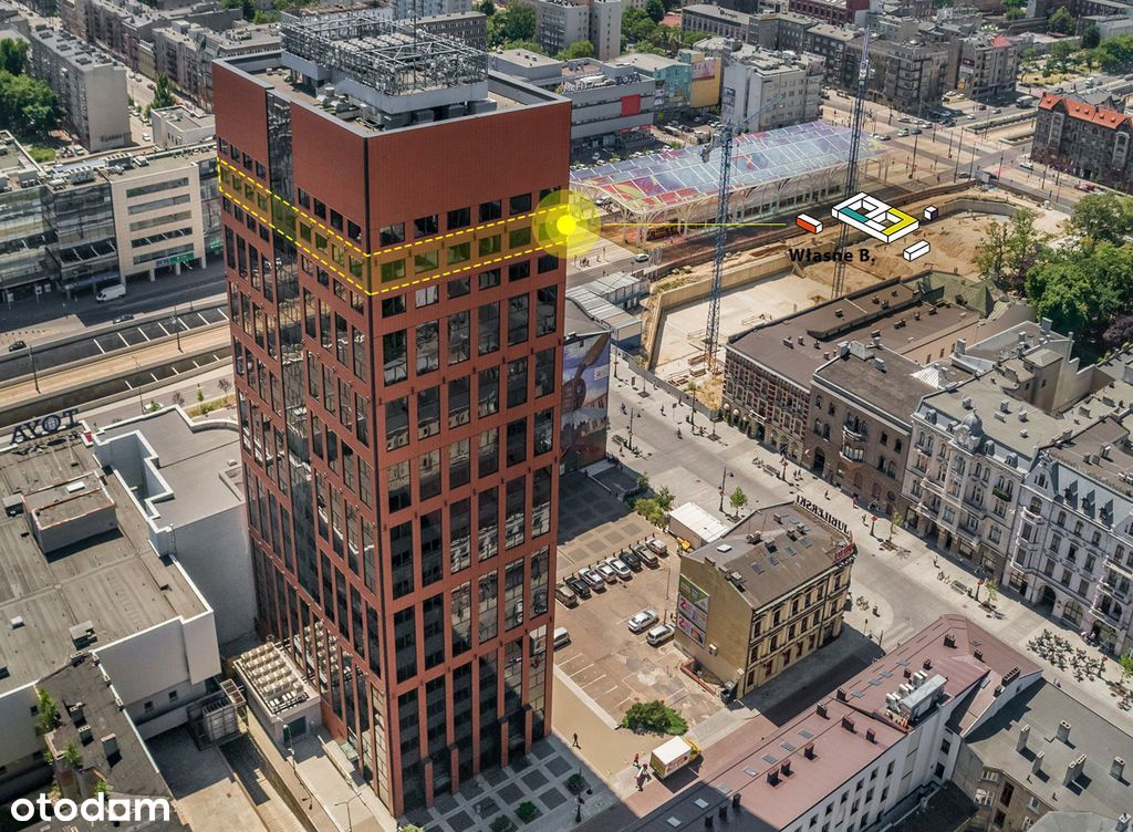 Najwyżej położone biuro w Łodzi - widok w cenie