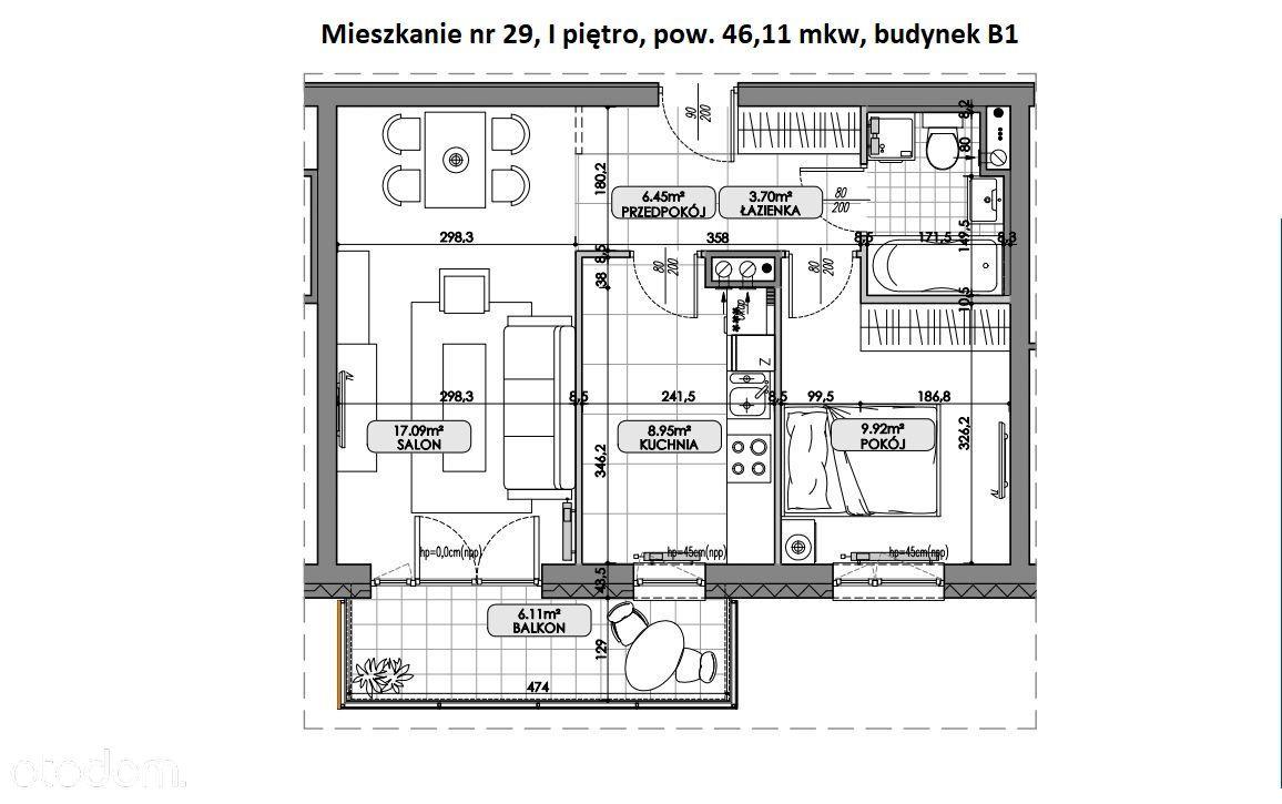 Nowe mieszkanie - oddzielna kuchnia - balkon