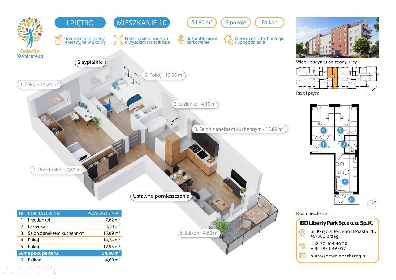Typ 12 - mieszkania nr 10, 15, 20, 25, 34, 38
