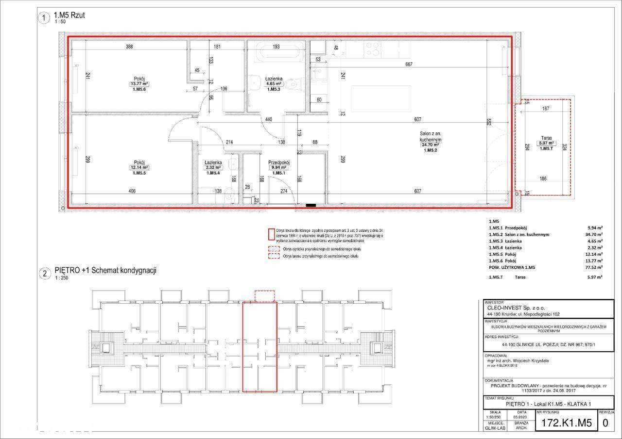 Nowe mieszkanie 77m2, 3 pokoje, dwie łazienki