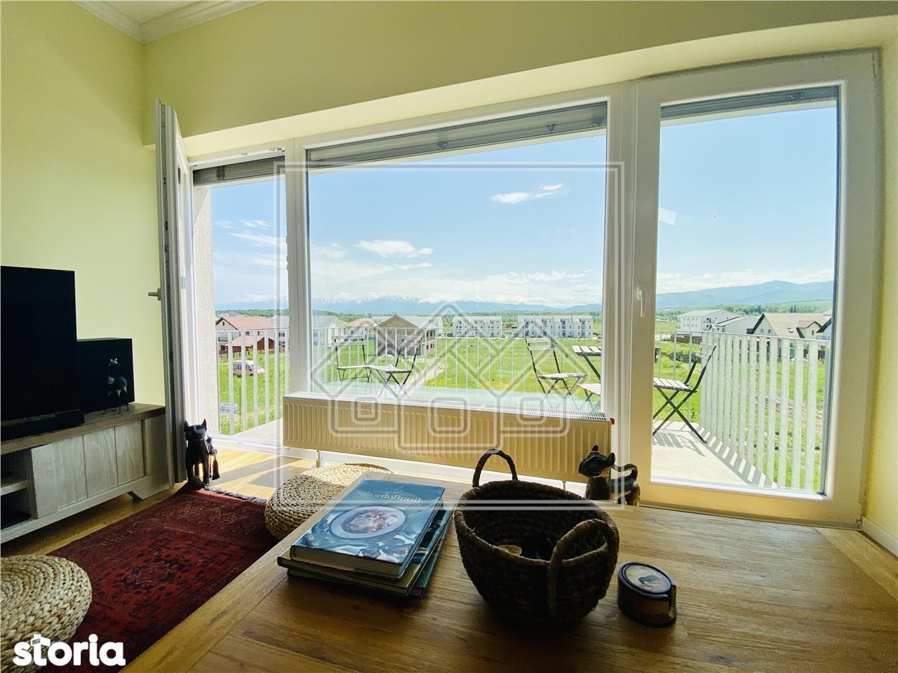 Apartament 3 camere - mobilat si utilat modern, cu terasa