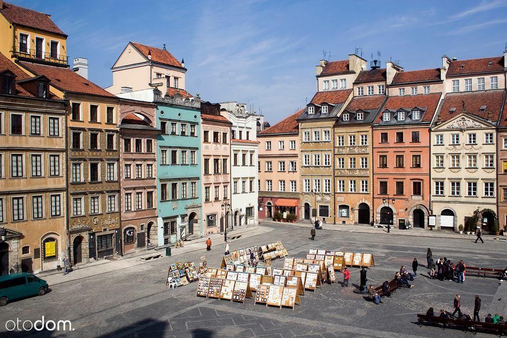Rynek Starego Miasta z widokiem na Rynek i Wisłę