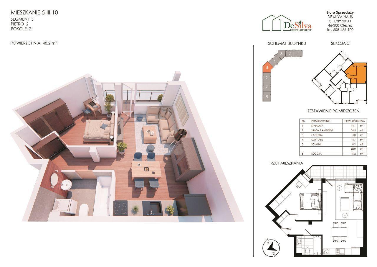 Mieszkanie 2 pokoje nowy blok garaż podziemny 5310
