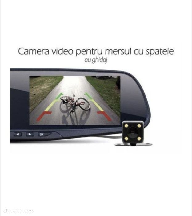 Camera Video Auto Dubla Tip Oglinda Full-HD - 5